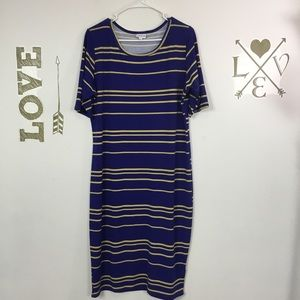 LULAROE JULIA STRIPED DRESS